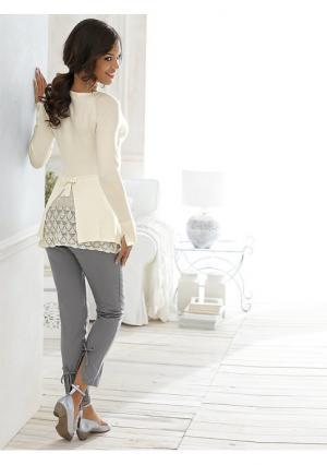 Пуловер Linea Tesini. Цвет: черный, экрю