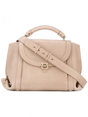 Большая сумка-тоут Sofia Salvatore Ferragamo. Цвет: телесный