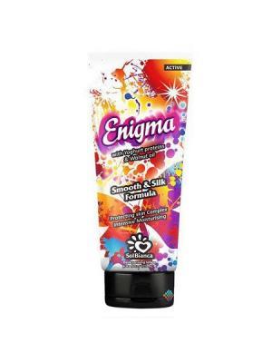 Крем для загара в солярии Enigma  с протеинами йогурта и маслом грецкого ореха, туба 125 ml Solbianca. Цвет: бежевый