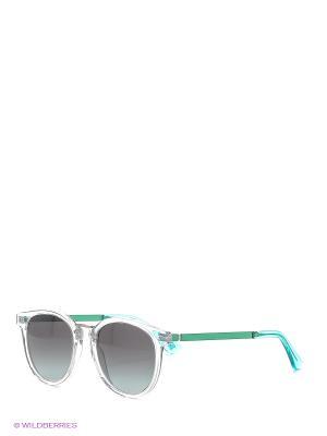 Солнцезащитные очки OXYDO. Цвет: прозрачный, голубой