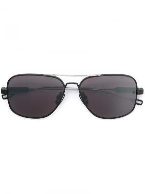 Солнцезащитные очки Lancier Dita Eyewear. Цвет: металлический