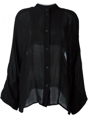 Рубашка без воротника Lost & Found Ria Dunn. Цвет: чёрный
