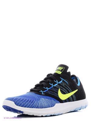 Кроссовки WMNS NIKE FLEX ADAPT TR. Цвет: голубой, желтый, синий, черный