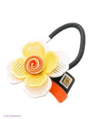 Резинка Fiore Lune. Цвет: оранжевый, белый, черный