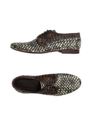 Обувь на шнурках MAURON. Цвет: хаки