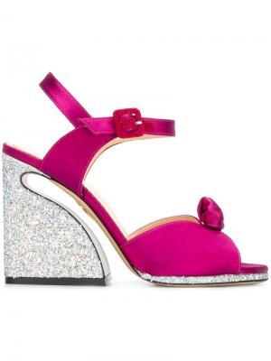 Босоножки Vreeland Charlotte Olympia. Цвет: розовый и фиолетовый