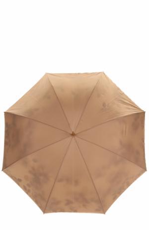 Зонт-трость с цветочным принтом Pasotti Ombrelli. Цвет: светло-бежевый