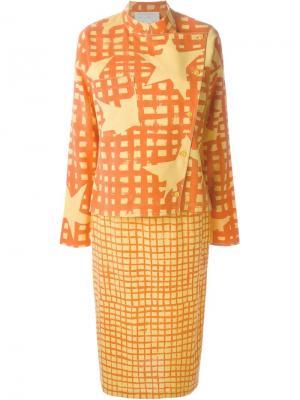 Юбочный костюм Jc De Castelbajac Vintage. Цвет: жёлтый и оранжевый