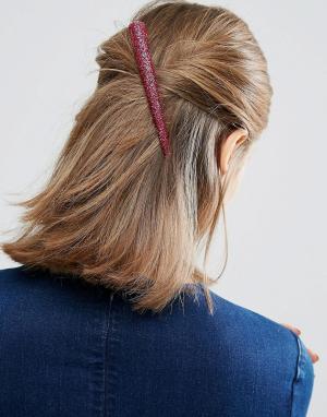 ASOS Заколка для волос ограниченной серии с розовыми блестками. Цвет: розовый