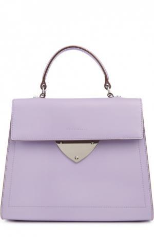 Кожаная сумка B14 Coccinelle. Цвет: лиловый