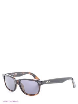 Солнцезащитные очки RE 361S 53V Replay. Цвет: темно-коричневый