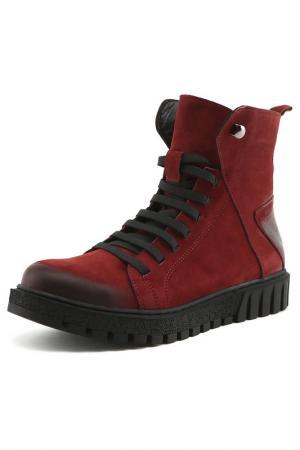 Ботинки Sandm. Цвет: бордо
