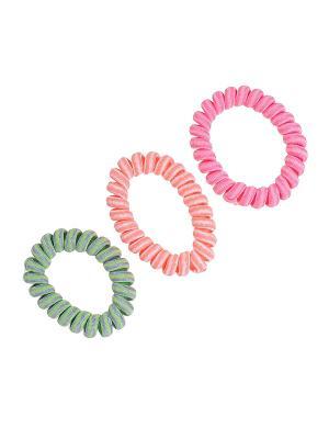 Резинка для волос (3 шт.) Happy Charms Family. Цвет: розовый, зеленый, оранжевый