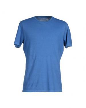 Футболка QU4TTRO. Цвет: синий