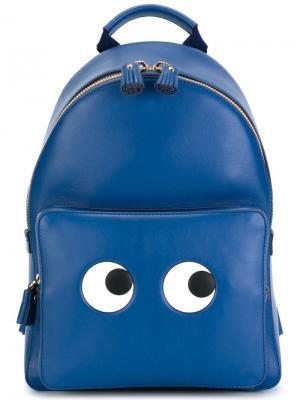 Рюкзак Eyes Anya Hindmarch. Цвет: синий