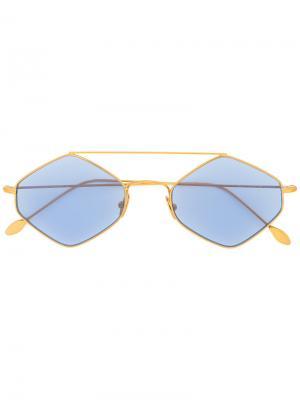 Солнцезащитные очки в шестиугольной оправе Spektre. Цвет: синий