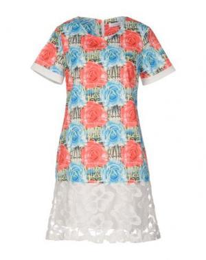 Короткое платье ANONYME DESIGNERS. Цвет: коралловый