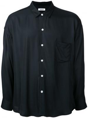 Рубашка с нагрудным карманом monkey time. Цвет: чёрный