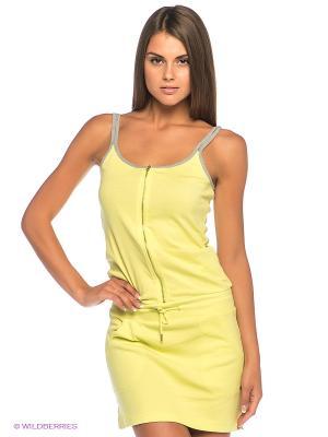 Платье CHAMPION. Цвет: салатовый, серый меланж