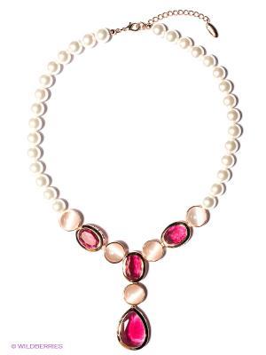 Колье Bijoux Land. Цвет: белый, розовый
