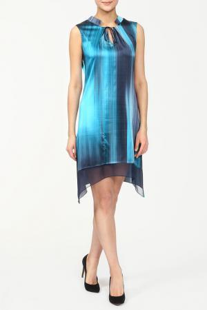 Платье Elie Tahari. Цвет: синий
