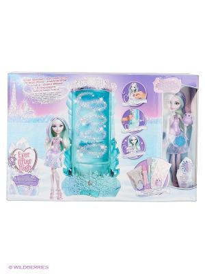 Игровой набор с куклой Кристал Винтер из серии Заколдованная зима Ever after High. Цвет: фиолетовый, голубой