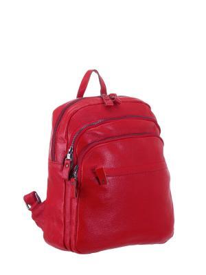 Рюкзак S16638 натуральная кожа Sara. Цвет: красный