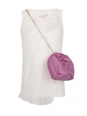 Блуза с сумкой SUPERTRASH. Цвет: белый