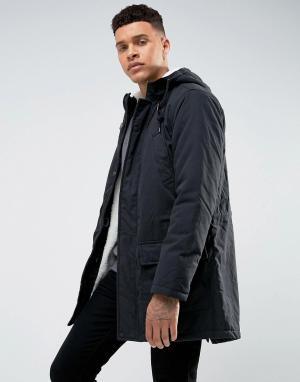 Tokyo Laundry Куртка с подкладкой из искусственного меха. Цвет: черный