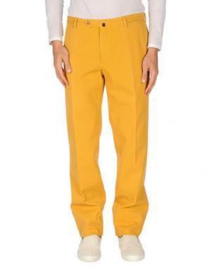 Джинсовые брюки INCOTEX. Цвет: охра
