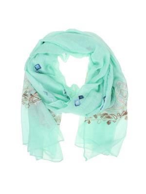 Палантин Migura. Цвет: зеленый, голубой, розовый