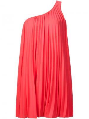 Асимметричное платье длины мини Trina Turk. Цвет: розовый и фиолетовый