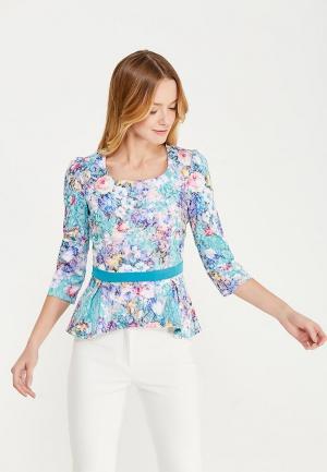 Блуза Miss & Missis. Цвет: разноцветный