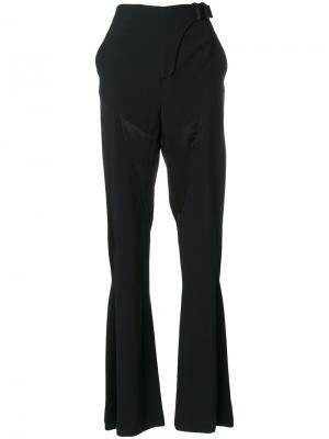 Расклешенные от колена брюки Versace. Цвет: чёрный