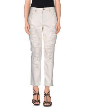 Джинсовые брюки TORTOISE. Цвет: белый