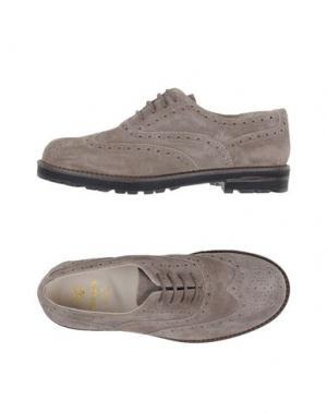 Обувь на шнурках EQUERRY. Цвет: голубиный серый