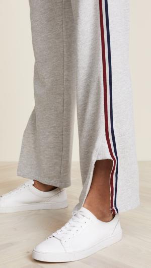 Track Pants with Stripe Trim SUNDRY