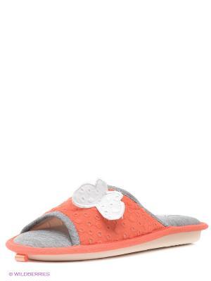 Тапочки De Fonseca. Цвет: коралловый, серый
