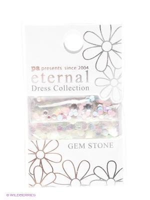 Стразы-камушки для ногтей Серебрянный микс ETERNAL Dress Collection Gem Stone Macaron mix PA presents since 2004. Цвет: зеленый