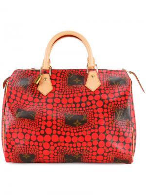 Сумка Yayoi Kusama X Louis Vuitton Speedy Vintage. Цвет: красный