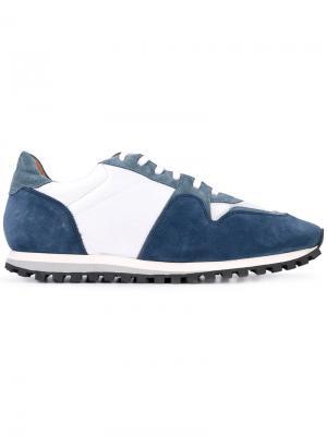 Кроссовки с панельным дизайном и шнуровкой Closed. Цвет: синий
