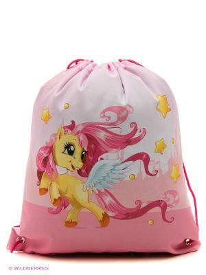 Мешок для обуви Пони Action!. Цвет: розовый