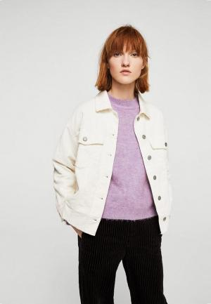 Куртка Mango. Цвет: бежевый