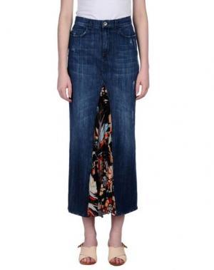 Джинсовая юбка KARTIKA. Цвет: синий