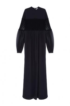 Однотонное платье Veronique Branquinho. Цвет: черный