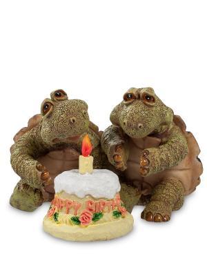 Фигура Черепахи День Рождения Sealmark. Цвет: зеленый