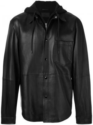 Куртка-рубашка с капюшоном Alexander Wang. Цвет: чёрный
