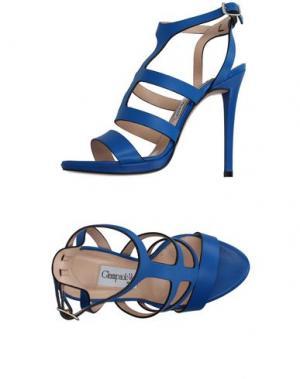 Сандалии GIAMPAOLO VIOZZI. Цвет: ярко-синий