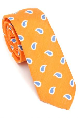 Галстук Hugo Boss. Цвет: оранжевый