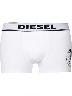 Трусы с эластичной талией логотипом Diesel. Цвет: белый